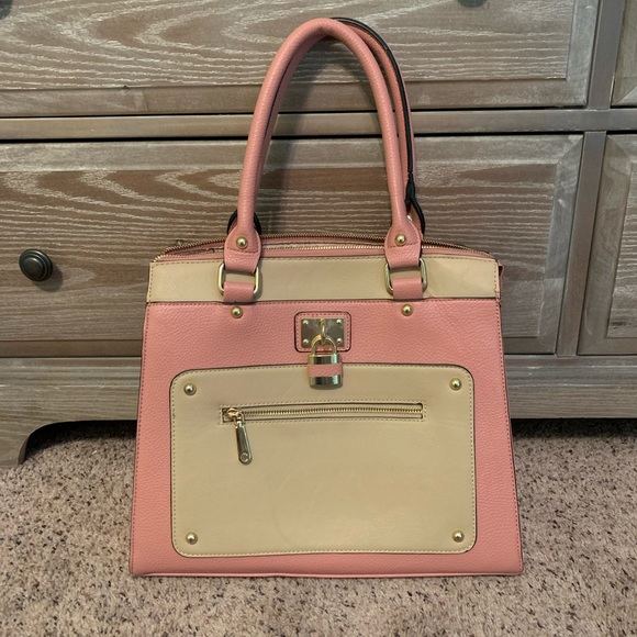Pink and Beige Purse